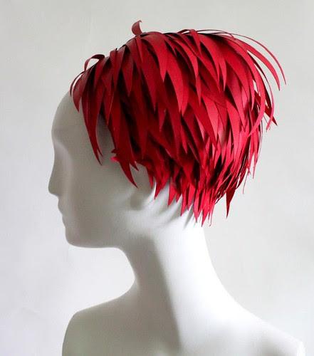 Sculpted Paper Wig