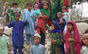 Afghan children in Khost Province