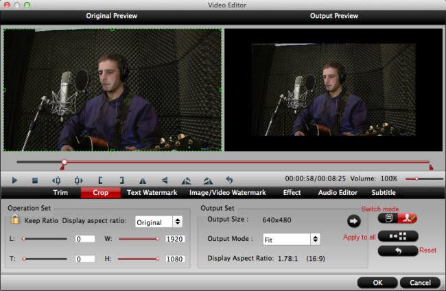 Edit Zenmuse X5/X5R 4K video