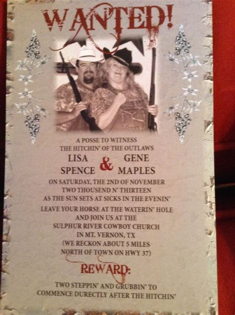 Redneck Wedding Invitations