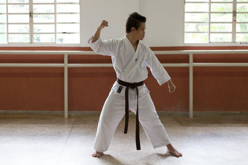 Gabriel se dedica ao Karate-Do há 9 anos.