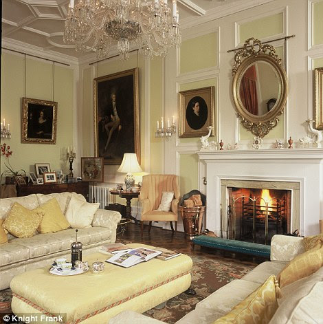 The drawing room at Myres