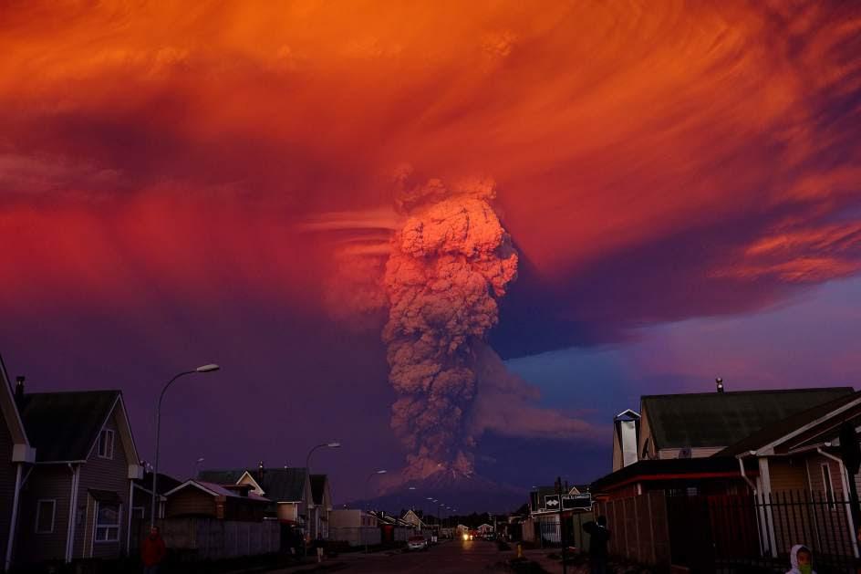 El volcán Calbuco