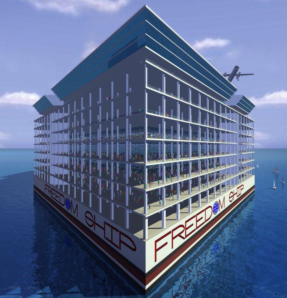 Floating Island Ship