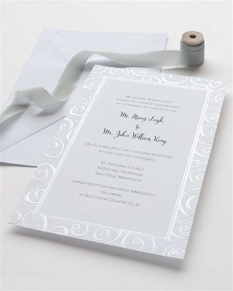 Pearl Foil Swirls Print at Home Invitation Kit   Gartner