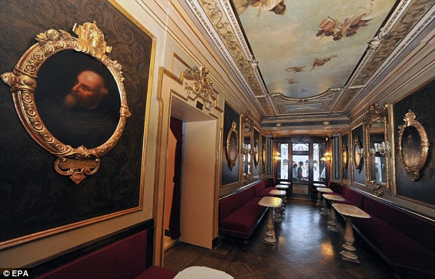 The coffee house first opened in 1720 and has welcomed famous visitors including Charles Dickens, Casanova and Lord Byron