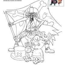 Coloriages Coloriage Chopper Et Le Docteur Hiluluk Frhellokidscom