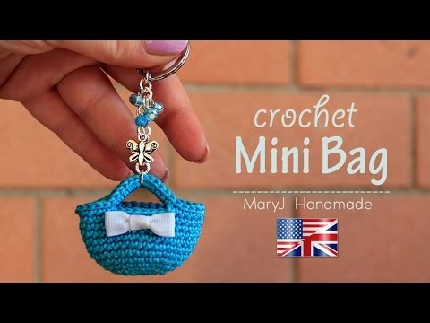 CROCHET MINIATURE BAG TUTORIAL...TRY IT!
