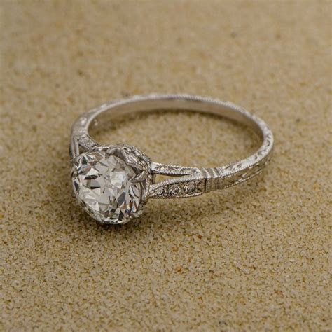 1.81ct Solitaire Old European Engagement Ring   Vintage