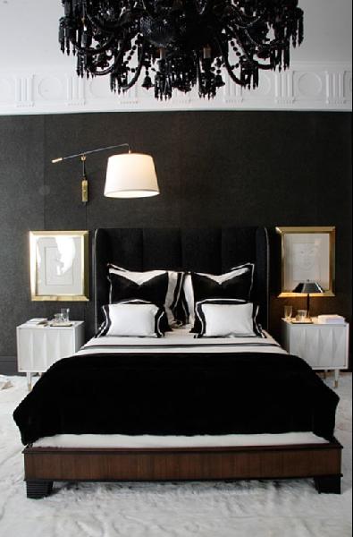 Black Velvet Headboard - Contemporary - bedroom
