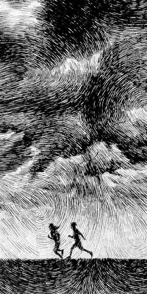 fingerprint averse india ink drawing nicolas jolly