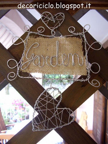 targhetta garden su graticcio