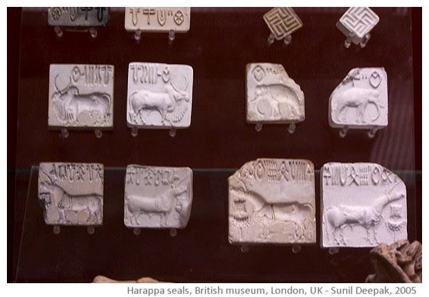 Thames, British Museum and Trafalgar square, London - images by Sunil Deepak, 2005