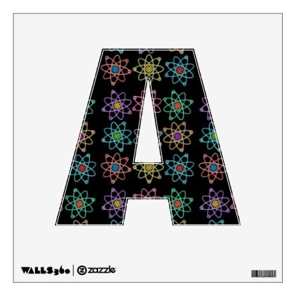 Atomic Structure Pattern Wall Sticker