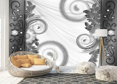 Wall Mural Photo Wallpaper Fleece 3D Perspective Tunnel white poster bedroom