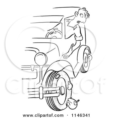 Image Result For Car With A Flat Tire