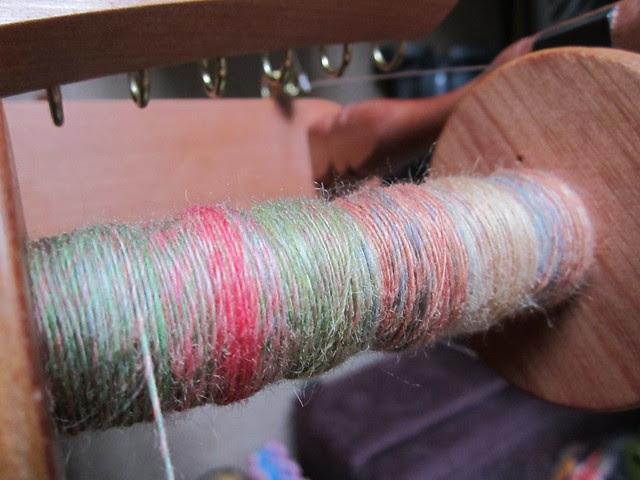 Zauberweise BFL fibre spin in progress (1)
