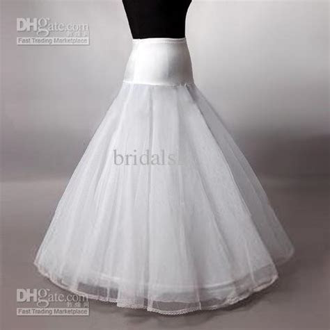 A Line Wedding Gowns Petticoat Bridal Slip Ruched Dresses