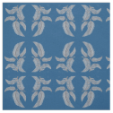 Sketched Feathers on blue Background, Mirrored. Fabric