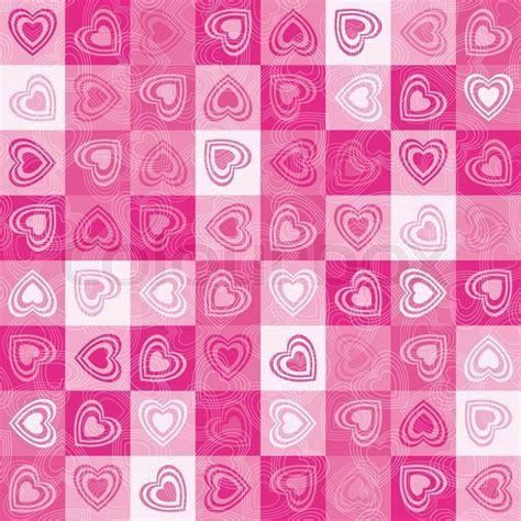 Heart cute background, vector.   Stock Vector   Colourbox