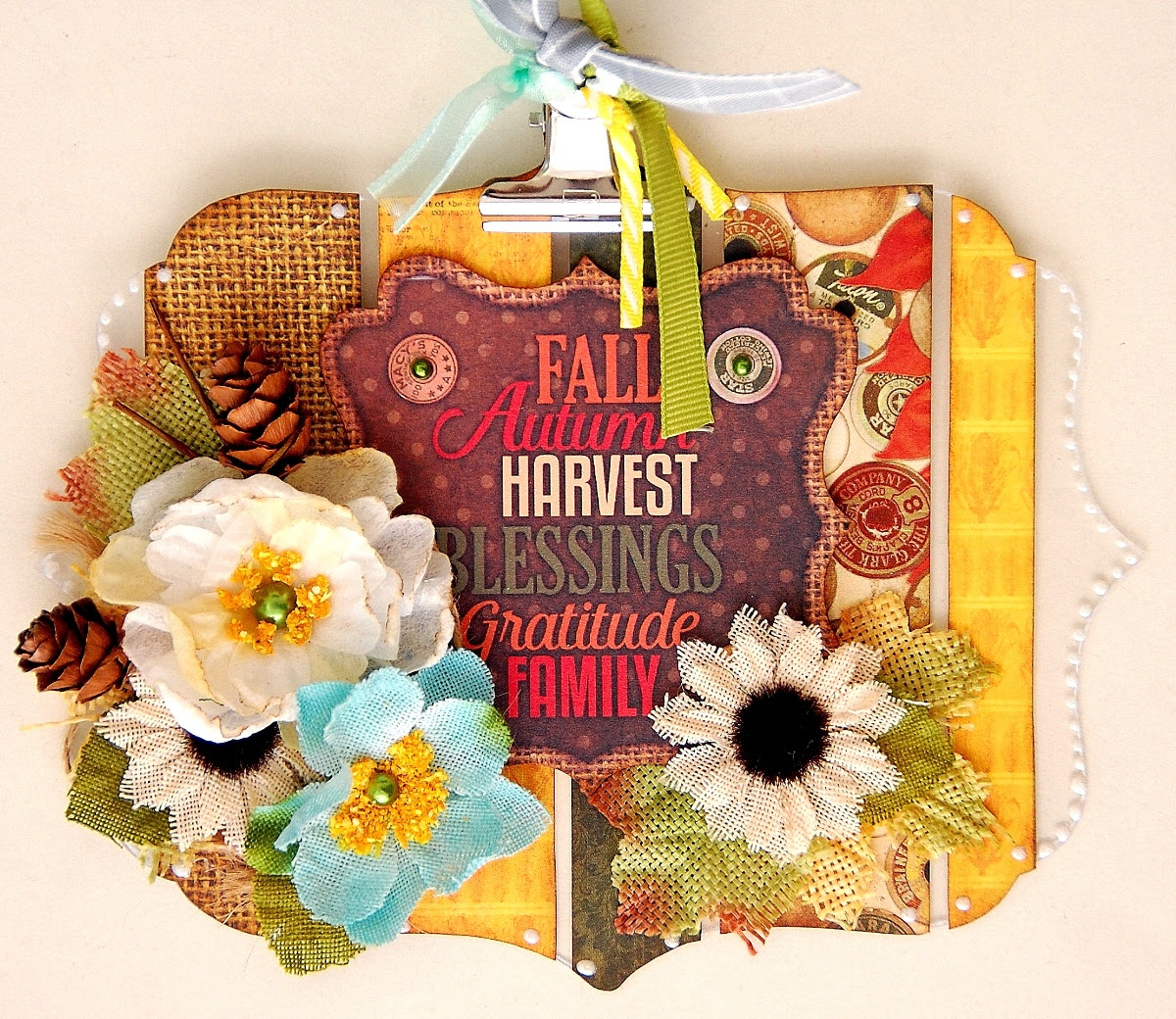 Altered Fall Clipboard by Irene Tan