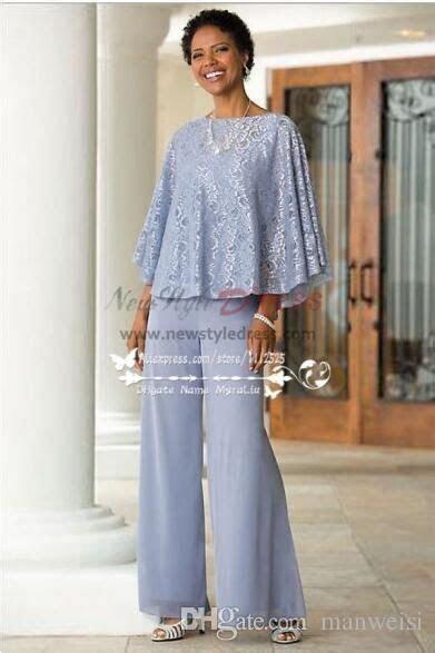 pieces mother   bride pants suit chiffon