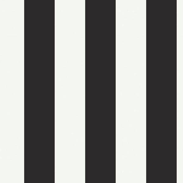Silk Stripe Black & White Wallpaper - modern - wallpaper - - by ...