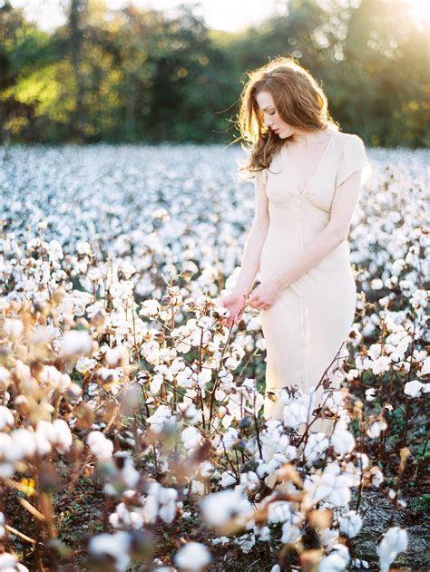 Bridal Portrait in Cotton Field   Elizabeth Anne Designs