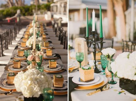 Emerald Green & Gold Engagement!   B. Lovely Events
