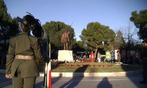 La statua di Garibaldi a Madonna delle Grazie