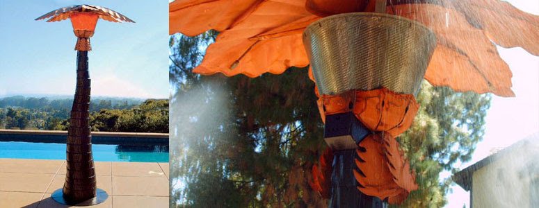 Palm Tree Patio Heater and Mister - Year Round Comfort ...