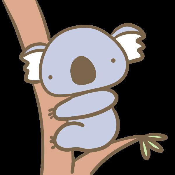 木のぼりコアラのイラスト かわいいフリー素材が無料のイラストレイン