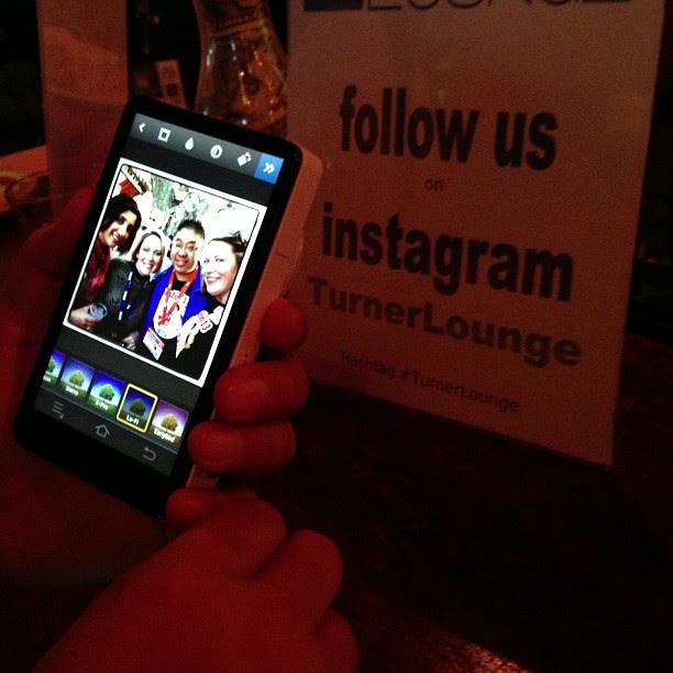 Instagram on Samsung Galaxy camera, Upload via WiFi. See it at @mayhemstudios #turnerlounge #sxsw