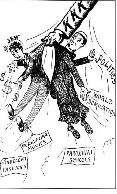 ku klux klan presents anti-Catholic anti-Semtitic propaganda 1928