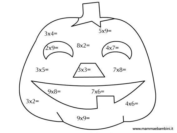 Matematica: le tabelline per Halloween - Mamma e Bambini