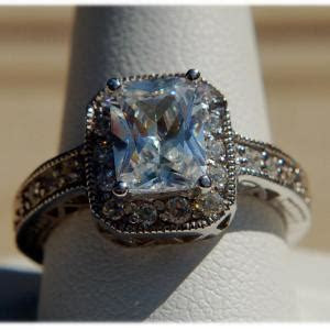Ring: 3 CT Diamond Solitaire Ring, Blue Ring Pop, Indian