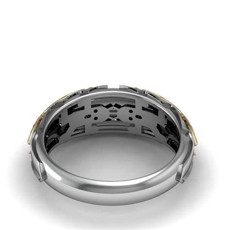 Final fantasy inspired wedding band created by Takayas