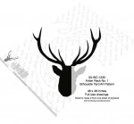 Antler Rack No.1 Silhouette Woodworking Pattern - fee plans from WoodworkersWorkshop® Online Store - antlers,silhouettes,shadow art,animals,yard art,drawings,plywood,plywoodworking plans,woodworkers projects,workshop blueprints