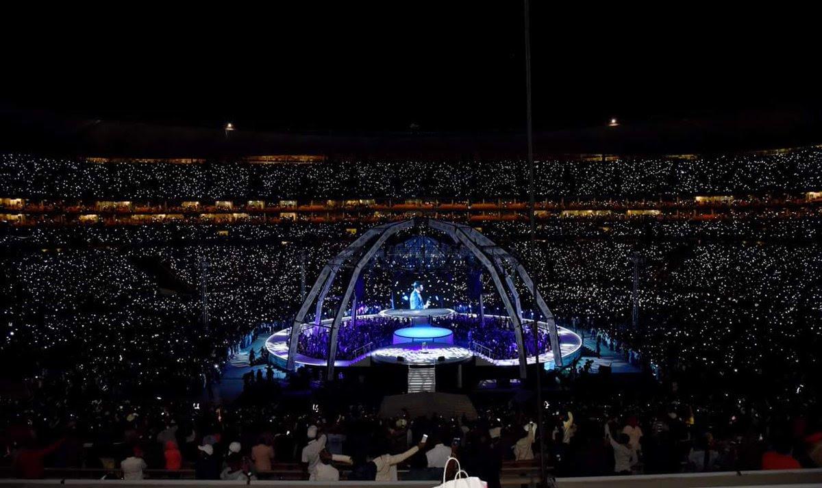 Prophet Shepherd Bushiri Filled Up FNB Stadium In South Africa