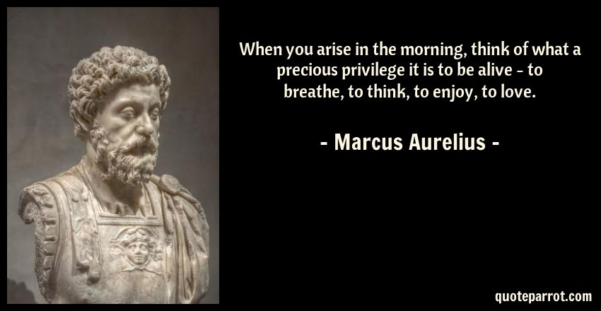 When You Arise In The Morning Think Of What A Precious By Marcus