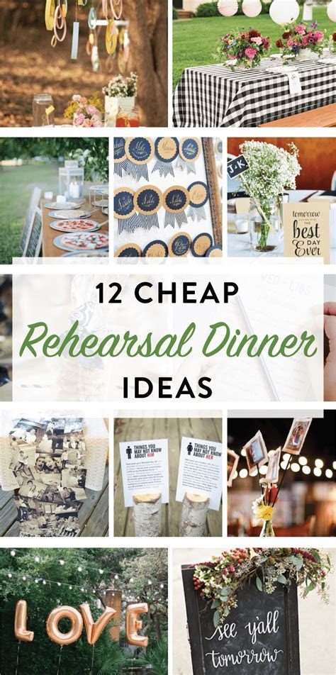 12 Cheap Rehearsal Dinner Ideas   DIY Party Ideas   Fall