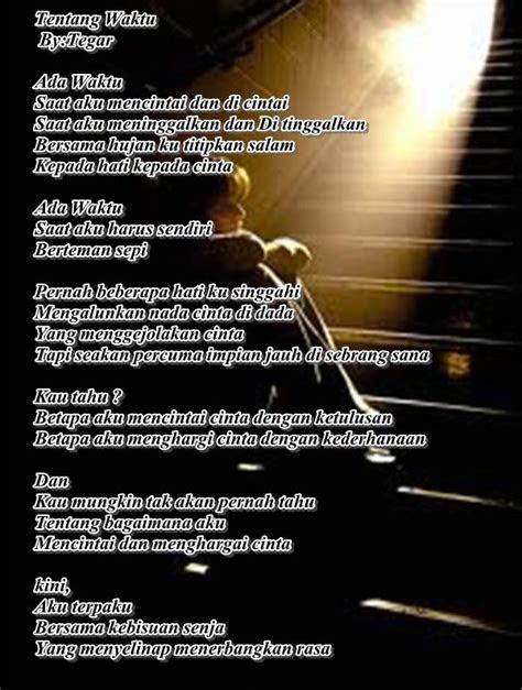 kumpulan puisi cinta terbaik minggu  tegar indo blog