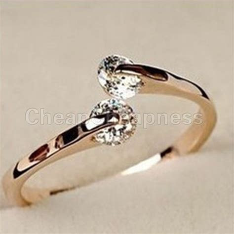 One Pcs Fashion Women gold Crystal Elegant Wedding Band