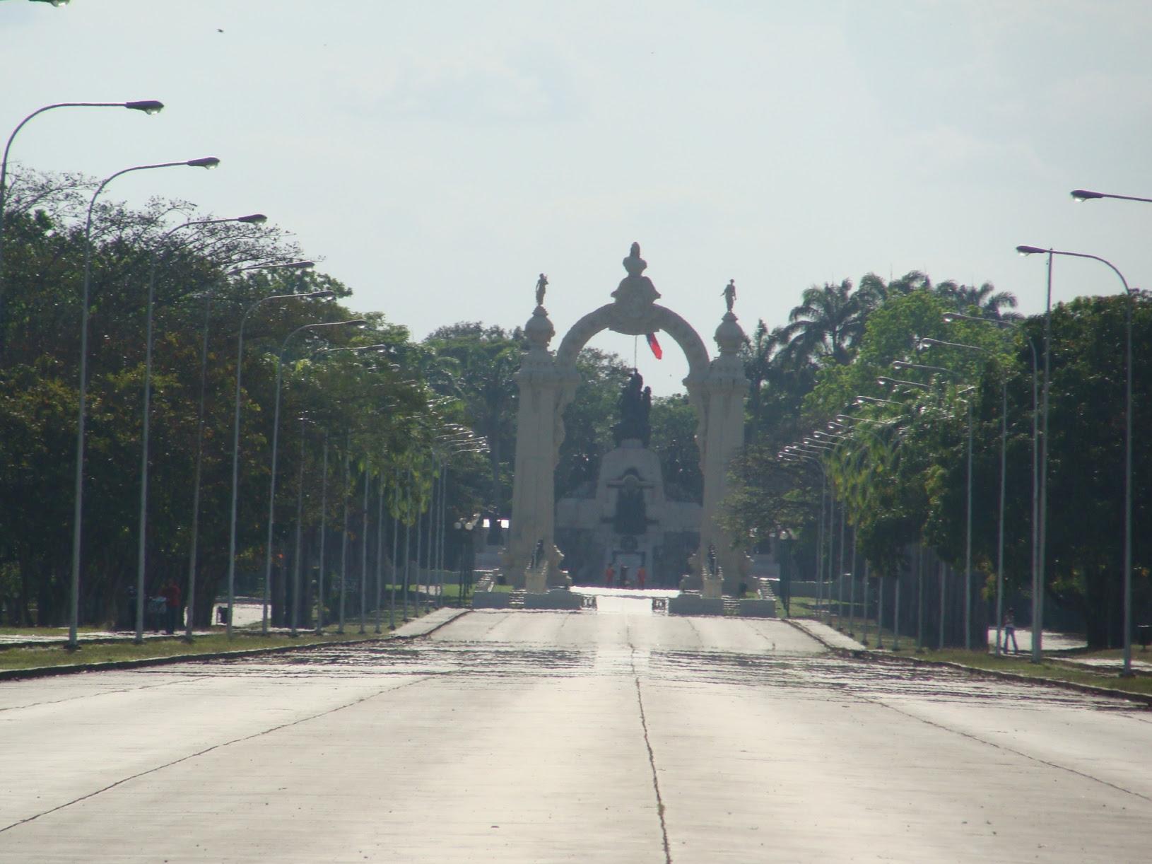 avenida y arco de la batalla de carabobo