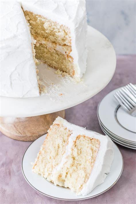Moist White Cake   I Scream for Buttercream
