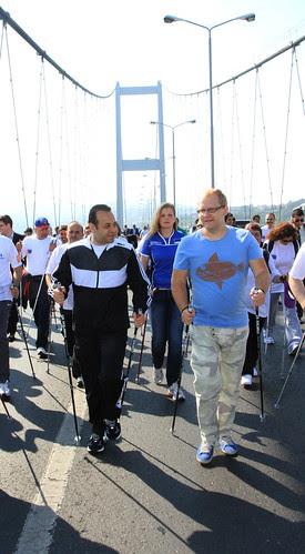 Nordic walk in Istanbul