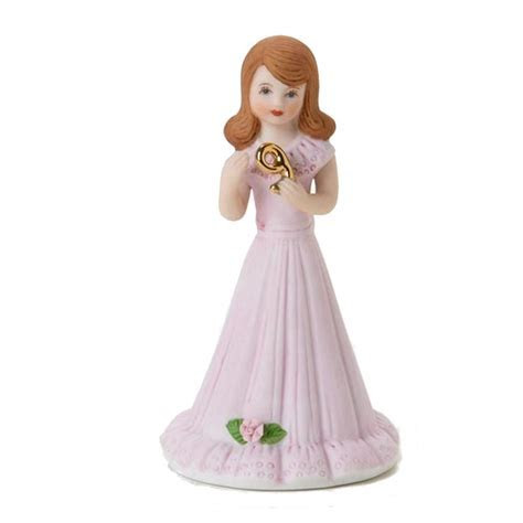Growing Up Girls Brunette Age 9 Figurine: Fitzula's Gift Shop