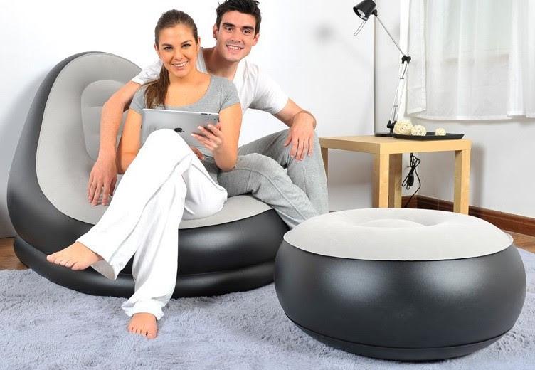 Jilong Ultra Lounge Inflatable Lazy Recliner Relaxing Modern Chair ...