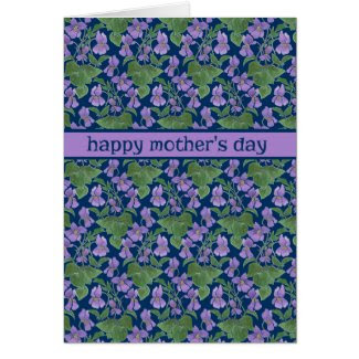 Violets, Pretty Mother's Day Greeting Card