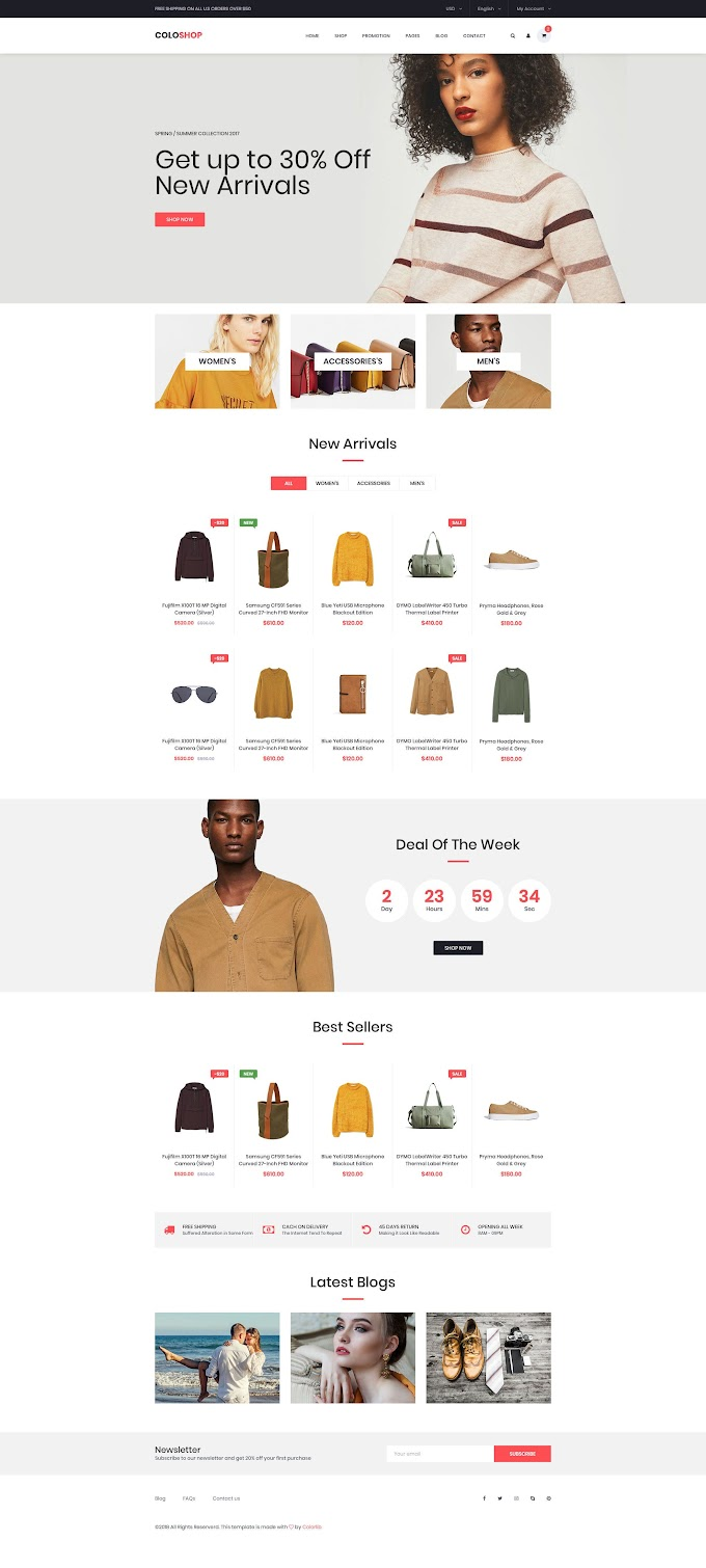 Free Bootstrap Templates Ecommerce